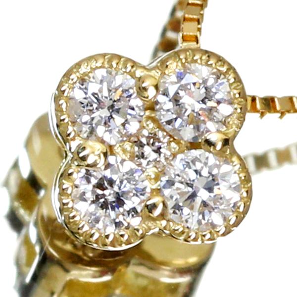 K18 0.1ct ダイヤモンド ネックレス