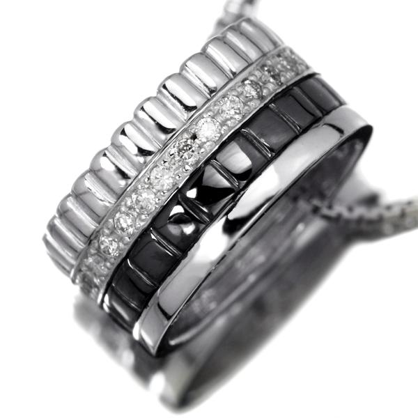 K18WG 0.16ct ダイヤモンドネックレス
