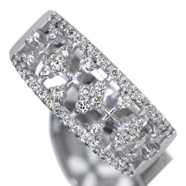 K18WG Total0.4ct ダイヤモンドリング