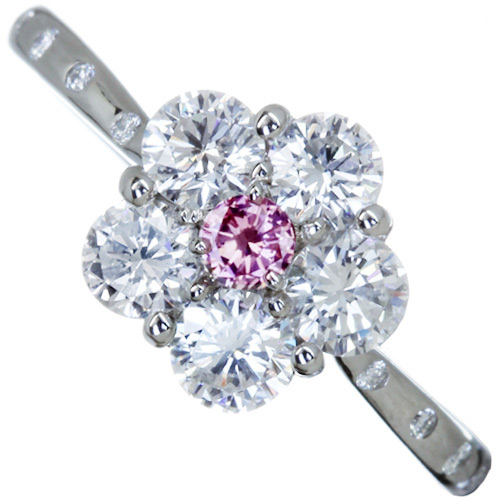 買い保障できる 【ハンドメイド】ピンクダイヤモンドリング PT950 0.067ct FANCY INTENSE PINK SI2 ダイヤモンド E-F VVS2-VS2 VG/G ※中央宝石研究所ソーティングシート付, butler 629c8cf5