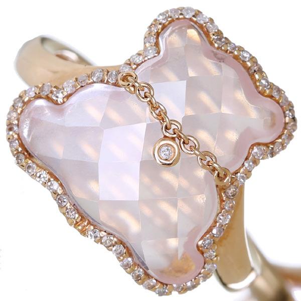 格安 ローズクォーツ リング 可愛いくま ベアモチーフ K18PG 4.06ct ダイヤモンド 4.06ct ダイヤモンド 0.17ct, タブセチョウ:7de0c511 --- sequinca.net