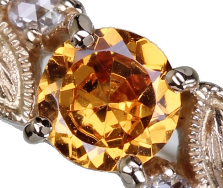 K18YG スペサタイトガーネット 0 07ct ダイヤモンド0PwyvnO8mN