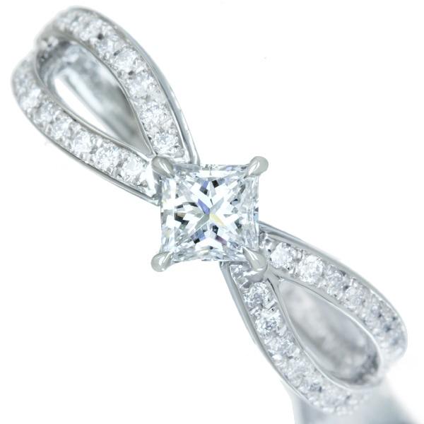 【HANDMADE】【新作】PT950 ダイヤモンド 0.321ct D VVS-1 リング ダイヤモンド 0.205ct※GIA鑑定書付