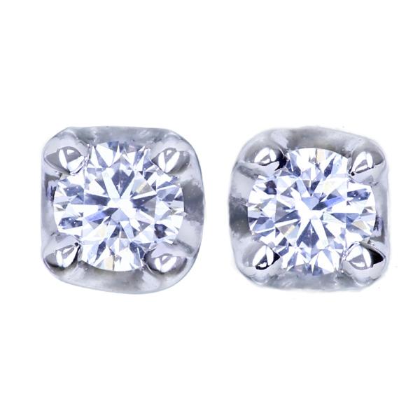 【一点限り即納】K10WG ダイヤモンド スタッドピアス【再販不可】