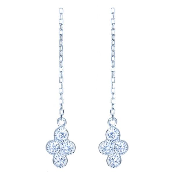 一点限り即納 K10WG ダイヤモンド 再販不可 捧呈 全品最安値に挑戦 アメリカンピアス