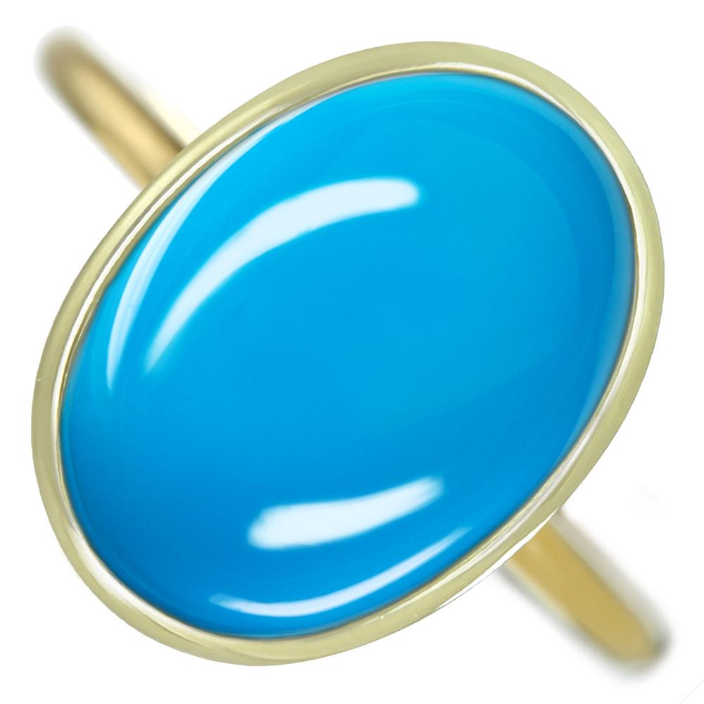 【1点限り!】【HANDMADE】ターコイズ 12.1ct オーバルカボション【キャンディリング】