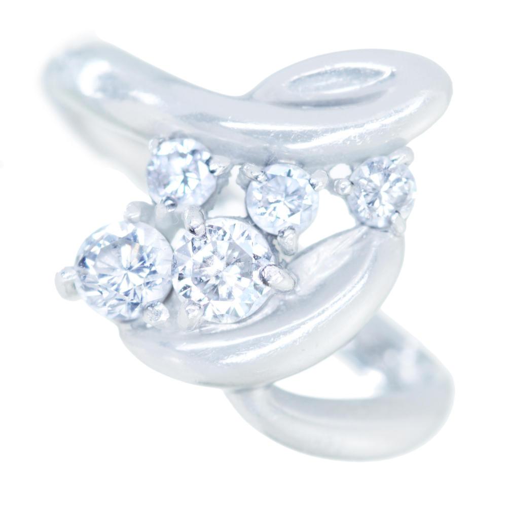 PT900 ダイヤモンド 0.50ct リング 流麗なライン