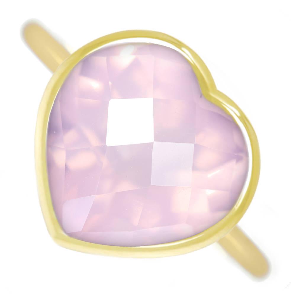 【Candy Ring】【HANDMADE】K18 ローズクォーツ 4.39ct キャンディリング【あなたのためにお仕立てします。納期約3週間】