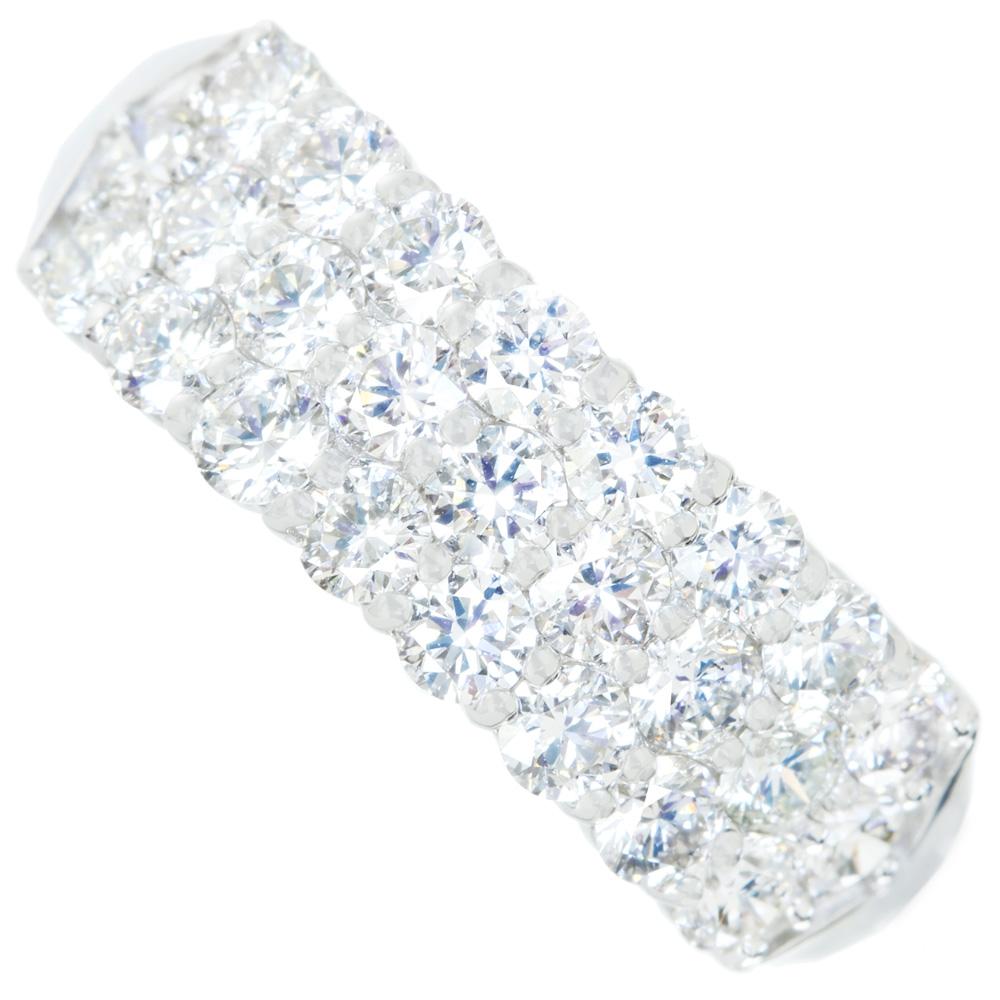 PT900 ダイヤモンド 1.00ct ハートアンドキューピッド H&C  パヴェ リング [DPS]