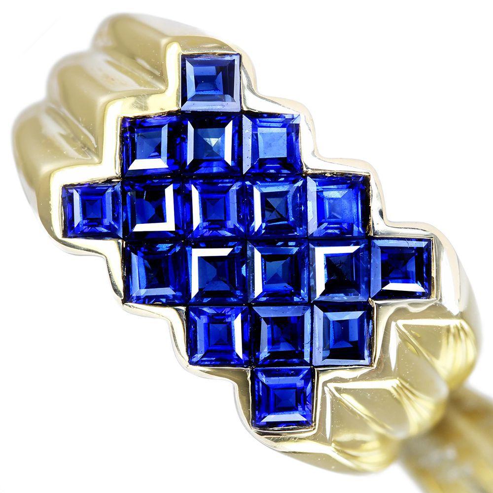【利益大還元。- Jewelry with HOPE -】K18 ブルーサファイア 1.53ct リング ミステリーセッティング