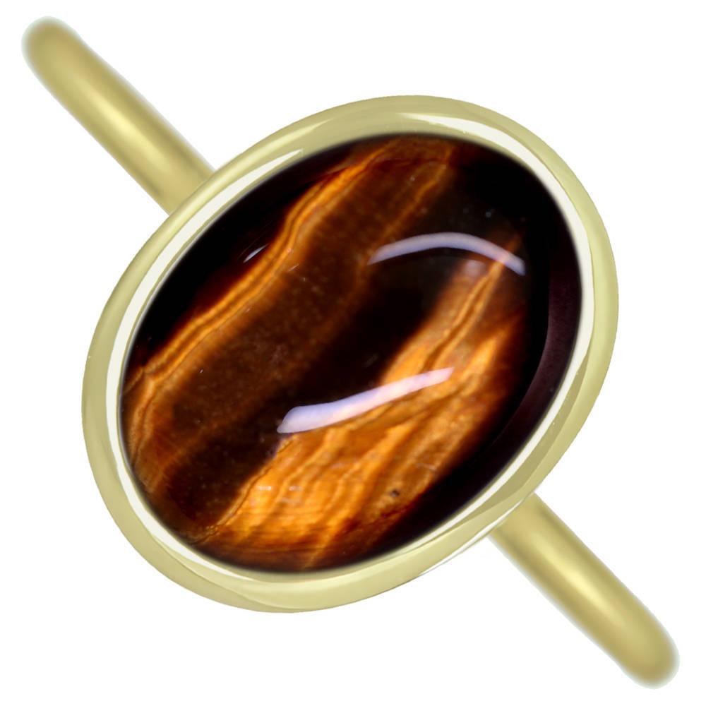 【Candy Ring】【HANDMADE】K18 タイガーアイ 9.64ct キャンディリング【あなたのためにお仕立てします。納期約3週間】