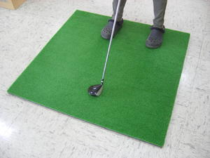 【新品】【送料無料】ゴルフ練習用アイリスソーコーカールSTシリーズスタンスマット120ターフ(GL-490)【代引き不可】
