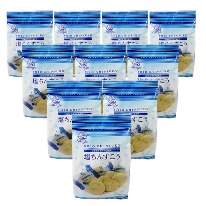 ついに入荷 沖縄の伝統的なちんすこうは 小麦粉とラードを使ったお菓子です 新入荷 15個入り×10袋セット Seasonal Wrap入荷 塩ちんすこう 全国送料無料