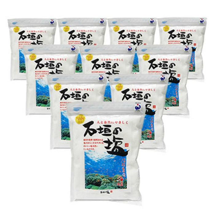 ご予約品 引出物 日本最南端 八重山諸島の海水を100%原料に生まれた美しいお塩です 新入荷 500g×10袋セット 石垣の塩 全国送料無料