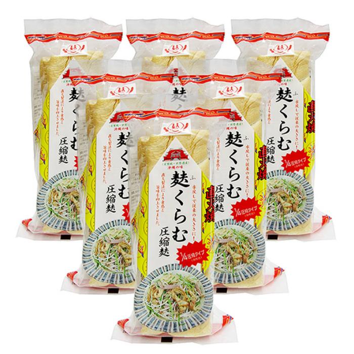 激安特価品 直火製法により食感と旨味を向上させました ご家庭で沖縄の味 フーチャンプルをお楽しみください 約3~4人分 激安セール 新入荷 ふくらむ圧縮麩 3枚入り×6袋セット