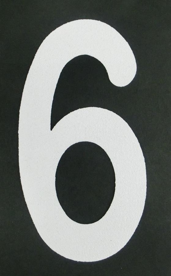 ロードマーキングナンバーS 6 誕生日/お祝い RM-106 感謝価格 9兼用