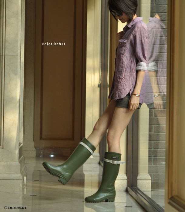 Fox Umbrella rain boots/ British Royal family used brand/ liberty queen/ collaboration ladies shoes/ long rain boots/ long rubber boots/ snow/ long boots/ made in Japan/ waterproof (Fashionable rubber boots, rain boots)