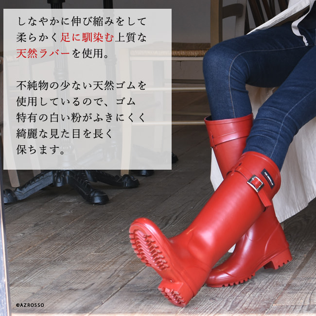 Fox Umbrella rain boots/ British Royal family used brand/ liberty queen/ collaboration ladies shoes/ red/ black/ long rain boots/ long rubber boots/ snow/ long boots/ made in Japan/ waterproof (Fashionable rubber boots, rain boots)