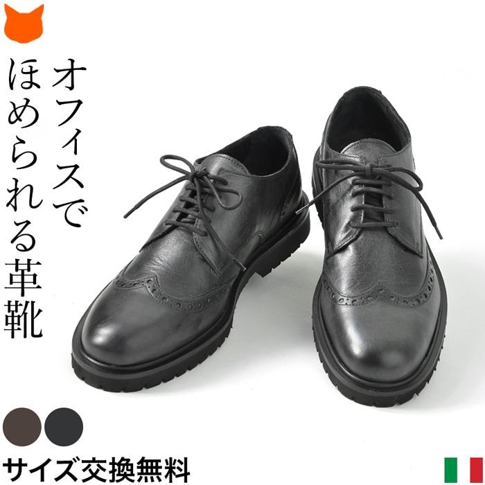 イタリア製 ビジネスシューズ 本革 メンズ シューズ ウイングチップ ビジネス 革靴 軽量 歩きやすい 黒 ブラック ブラウン ブランド おしゃれ STEFANO GAMBA ステファノガンバ 誕生日 プレゼント父の日 ギフト 男性 父 旦那 息子 就活 就職 転職 昇進 祝い