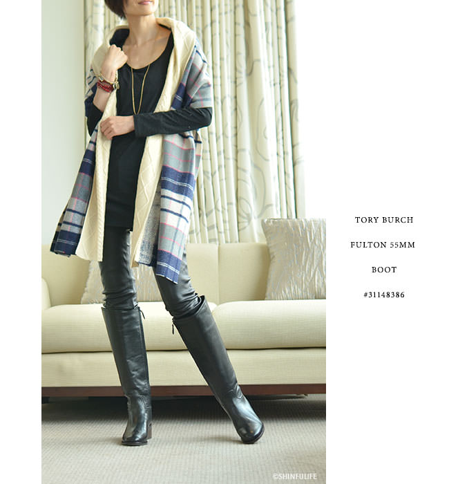 d239b107e17aeb Shinfulife  Tory Burch boots long boots low heel boots Fulton boots ...