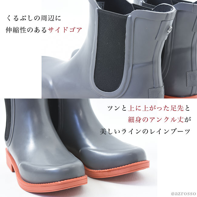 f1633cec3f3 Size 25cm 26cm that day charcoal gray fashion of the アグサイドゴアレインブーツレディース UGG  AVIANA red-throated loon hole UGG ...