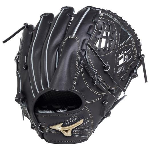 ミズノ 軟式グローブ投手用 ブラック1AJJGR18301サイズ11湯もみ型付けします土手部分のみ刺繍サービス1色に限ります中学野球 草野球