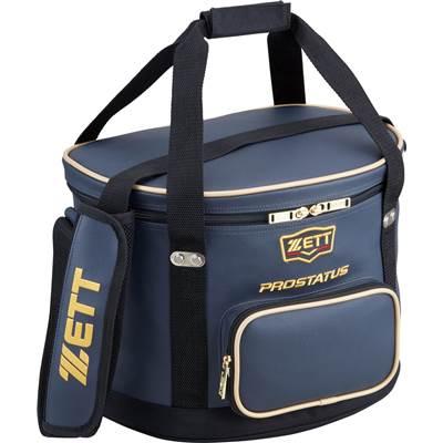ゼットプロステイタスボールケースBAP217カラー:ブラック,ダークネイビーフロントフタ部分にネーム刺繍サービス!3cm×14cmの範囲送料も無料