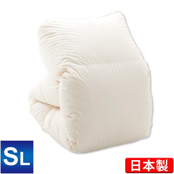 羽毛布団 ハンガリー産ホワイトダックダウン90% シングルロング 150×210cm エクセルゴールドラベル ダウンパワー350 キナリ 日本製