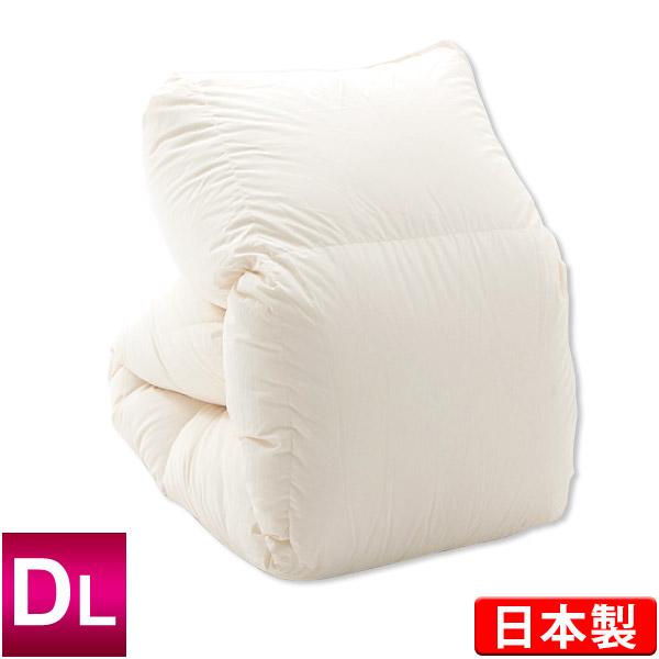 羽毛布団 ハンガリー産ホワイトダックダウン90% ダブルロング 190×210cm エクセルゴールドラベル ダウンパワー350 キナリ 日本製