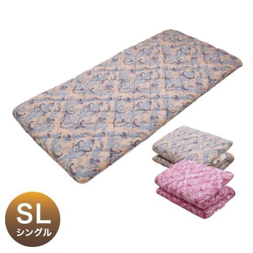 日本製 備長炭 三層 敷布団 シングルサイズ 100×210cm 敷き布団