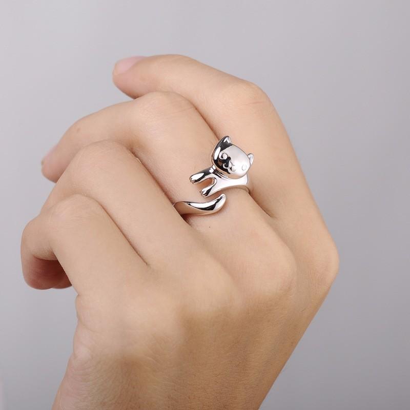 送料無料 人気ショップが最安値挑戦 可愛い にゃんこ シルバー リング 猫 ネコ 925 結婚式 パーティ 指輪 カジュアル 限定特価 オシャレ レディース プレゼント ファッションリング