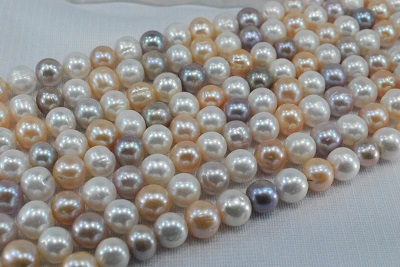 淡水 真珠  10mm  ポテト  ラウンド  ネックレス  マルチ
