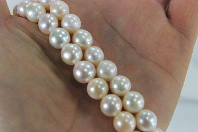 アコヤ 真珠 7.5mm ネックレス フォーマル ホワイト ライトクリーム 材料も可  rdカラー 引き輪アジャスター  532P15May16       ポイント5倍