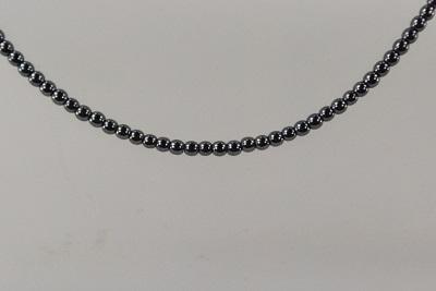 メーカー公式 2mmのヘマタイトブラックカラーのネックレスの60cm ロジウムカラーの引き輪アジャスターで最大65cm 天然石 ヘマタイト 2mm 在庫限り ブラック ラウンド 60cm ネックレス