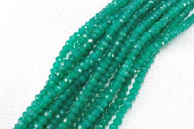ハッキリした濃い色目の清浄な緑色のカットネックレスです 天然石 グリーンアゲート 3mm カット 並行輸入品 ネックレス 引き輪 = 532P15May16 ポイント5倍 アジャスター 40CM + 定番キャンバス