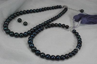 フォーマル 真珠 7mm - 8mm ネックレス 念珠 イヤリング ピアス セット 錦織 ケース 淡水 アコヤ あこや
