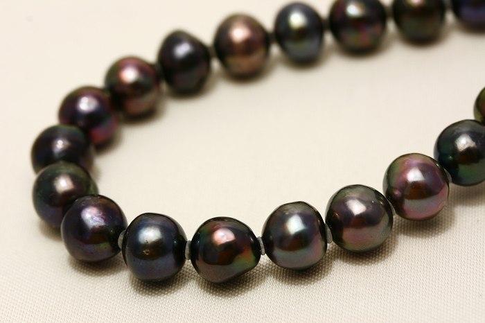 アコヤ真珠パールネックレス ブラックカラー 7.0-7.5mm