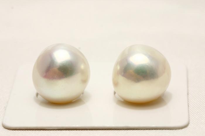 淡水真珠パールペアルース 12mm ホワイトピンクカラー