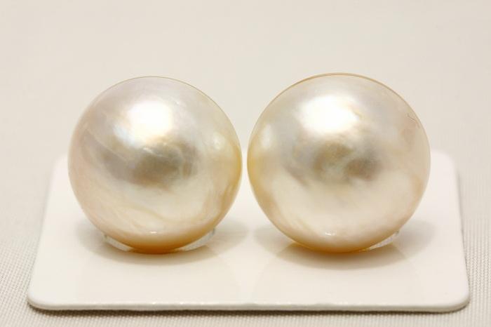 マベ真珠パールペアルース 16mm ホワイトカラー