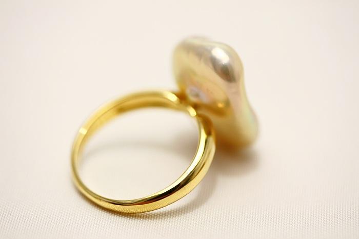 淡水真珠パールリング 指輪18×13mm ピンクカラーxoeCdB