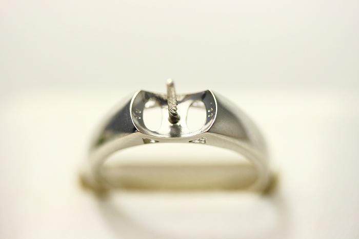 K18WG製 真珠用 リング空枠