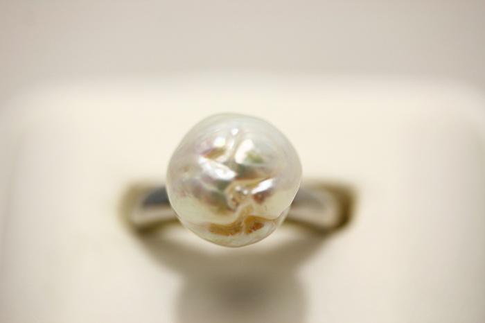 南洋白蝶真珠パールリング【指輪】 11mm ホワイトカラー