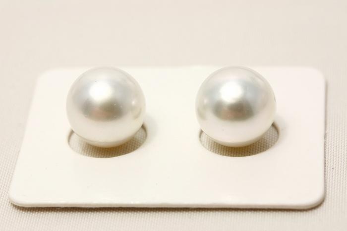 南洋白蝶真珠パールペアルース 10mm ホワイトピンクカラー
