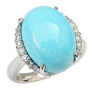 ターコイズリング 0.21ct 指輪 ダイヤモンド トルコ石リング Pt900 送料無料 プラチナ カジュアル