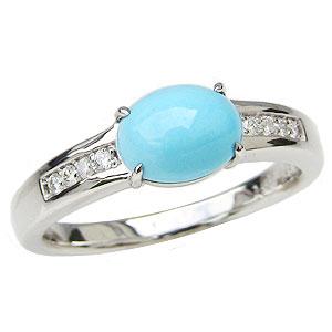 ターコイズ トルコ石 リング ダイヤモンド 0.08ct プラチナ Pt900 指輪 送料無料 カジュアル
