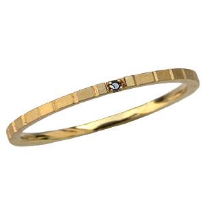 サファイアリング ピンキーリング K18ゴールド 指輪 サファイア 送料無料
