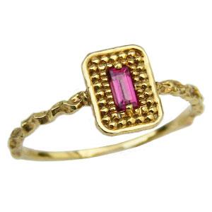 ロードライトガーネット リング K18 ゴールド ガーネット 指輪