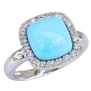 ターコイズリング トルコ石リング ダイヤモンド 0.13ct ホワイトゴールド 指輪 ターコイズブルー 12月誕生石 スリーピングビューティーターコイズ プレゼント 誕生日 クリスマス 記念日 送料無料 カジュアル