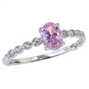 ピンクトルマリンリング ダイヤモンドリング 指輪 ピンクトルマリン ダイヤモンド 0.05ct 送料無料