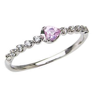 ピンクトルマリンリング ダイヤモンドリング 指輪 ピンクトルマリン ダイヤモンド 0.10ct 送料無料